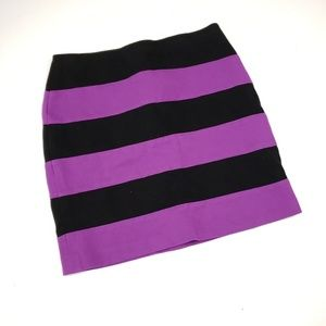 Ann Taylor fat striped mini skirt sz 2p